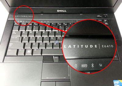 Find dell laptop model on your power button cover (picture 2)